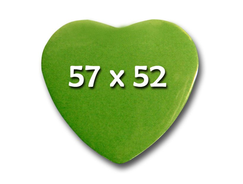 57x52mmHerzFertigbuttonsMagnetverschluss