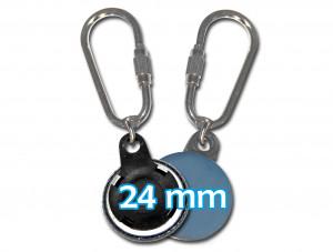 Schlüsselanhänger mit Karabiner für 24mm
