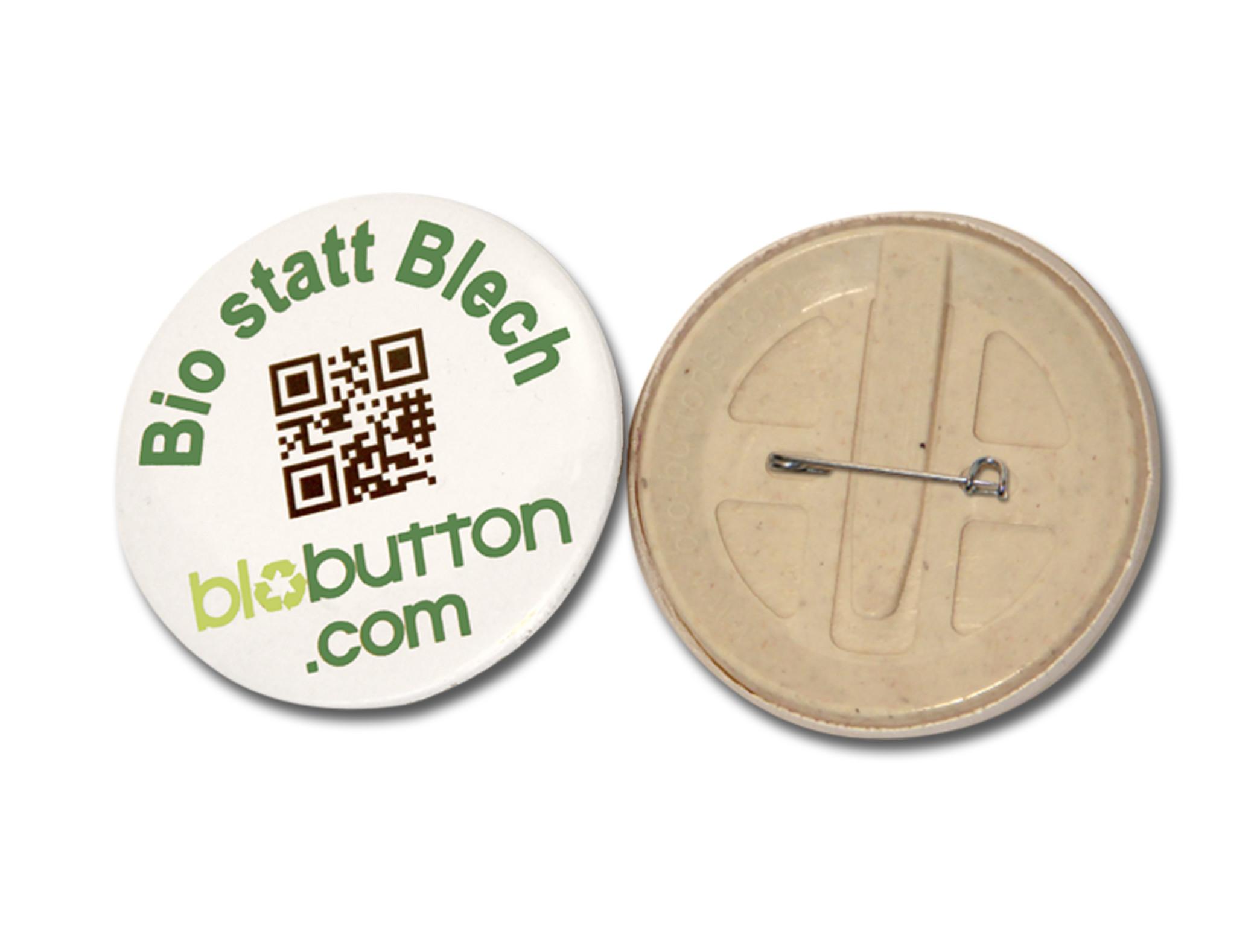 56mm Bio-Fertigbutton mit Nadel