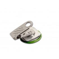 52x52mm Fertigbutton quadratisch mit Bulldogverschluss