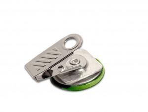 75mm Fertigbutton Oval mit Bulldogverschluss